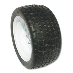 SOLID GOLF CART BLACK TURF TIRE & WHEEL ASSEMBLY (18X850-12)