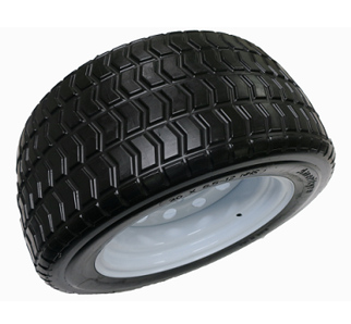 SOLID GOLF CART BLACK TURF TIRE & WHEEL ASSEMBLY (20X850-12)